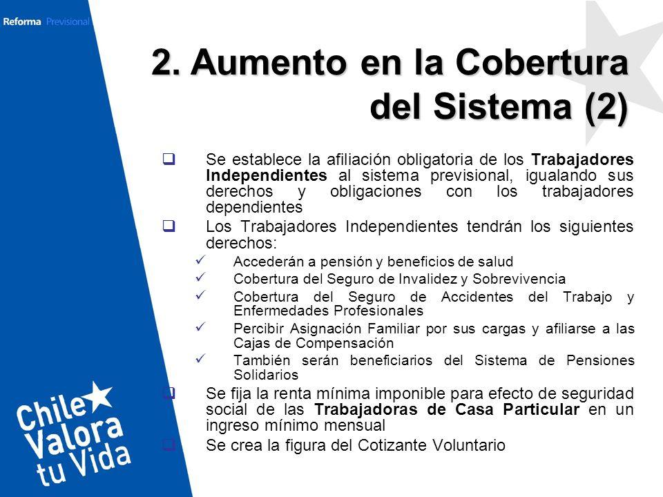 2. Aumento en la Cobertura del Sistema (2)