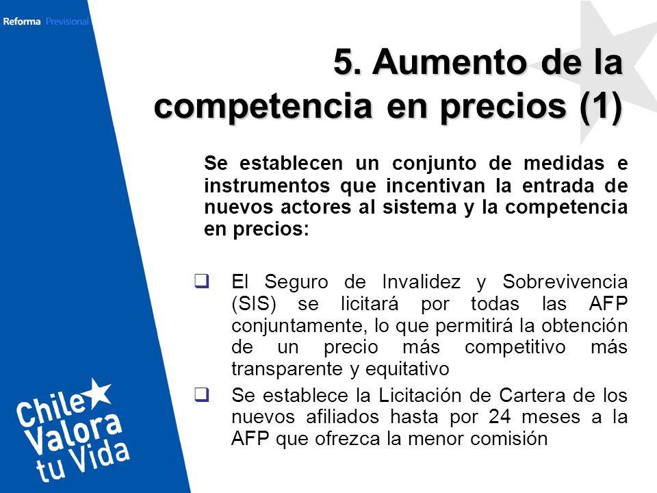5. Aumento de la competencia en precios (1)