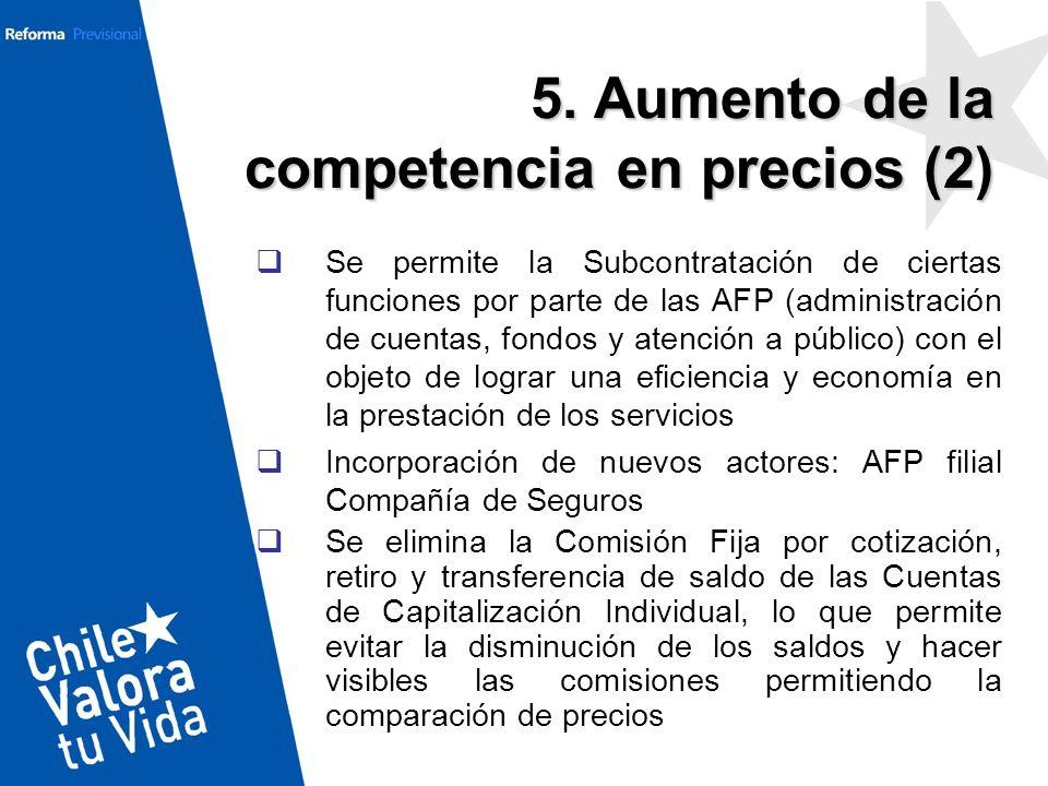 5. Aumento de la competencia en precios (2)