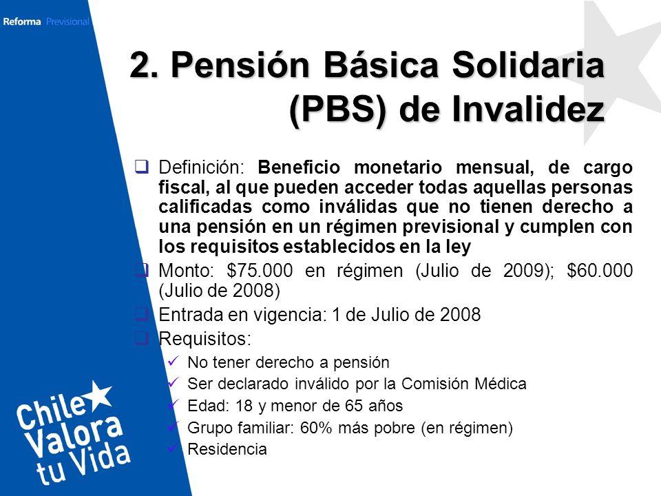 2. Pensión Básica Solidaria (PBS) de Invalidez