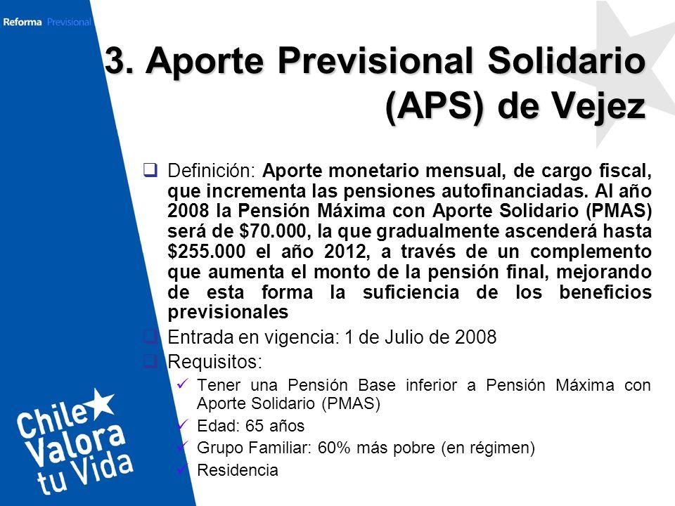 3. Aporte Previsional Solidario (APS) de Vejez