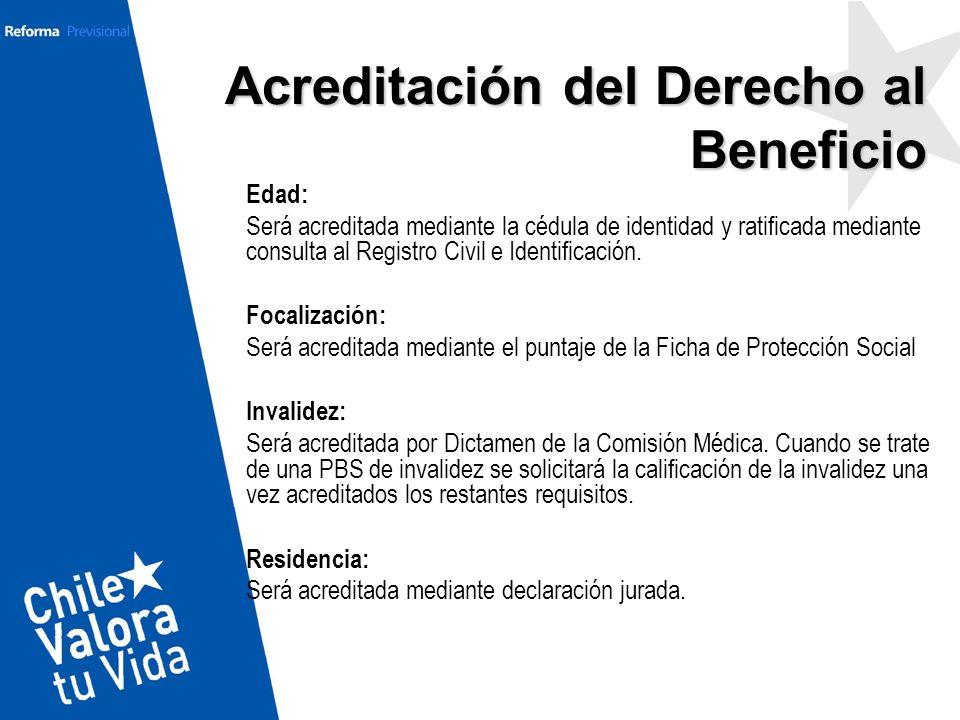 Acreditación del Derecho al Beneficio