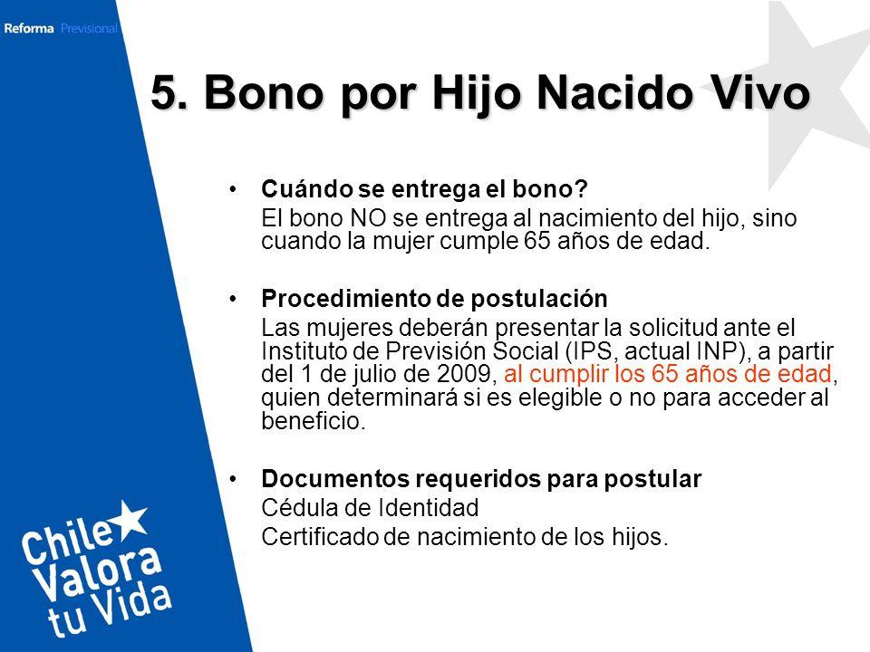 5. Bono por Hijo Nacido Vivo
