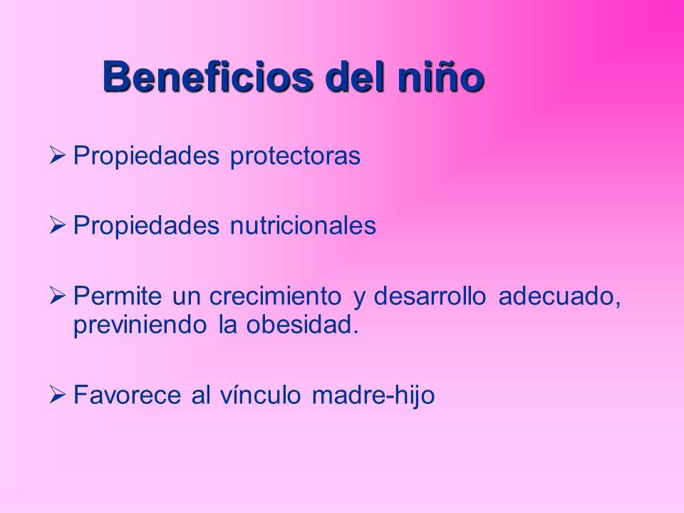 Beneficios del niño Propiedades protectoras Propiedades nutricionales