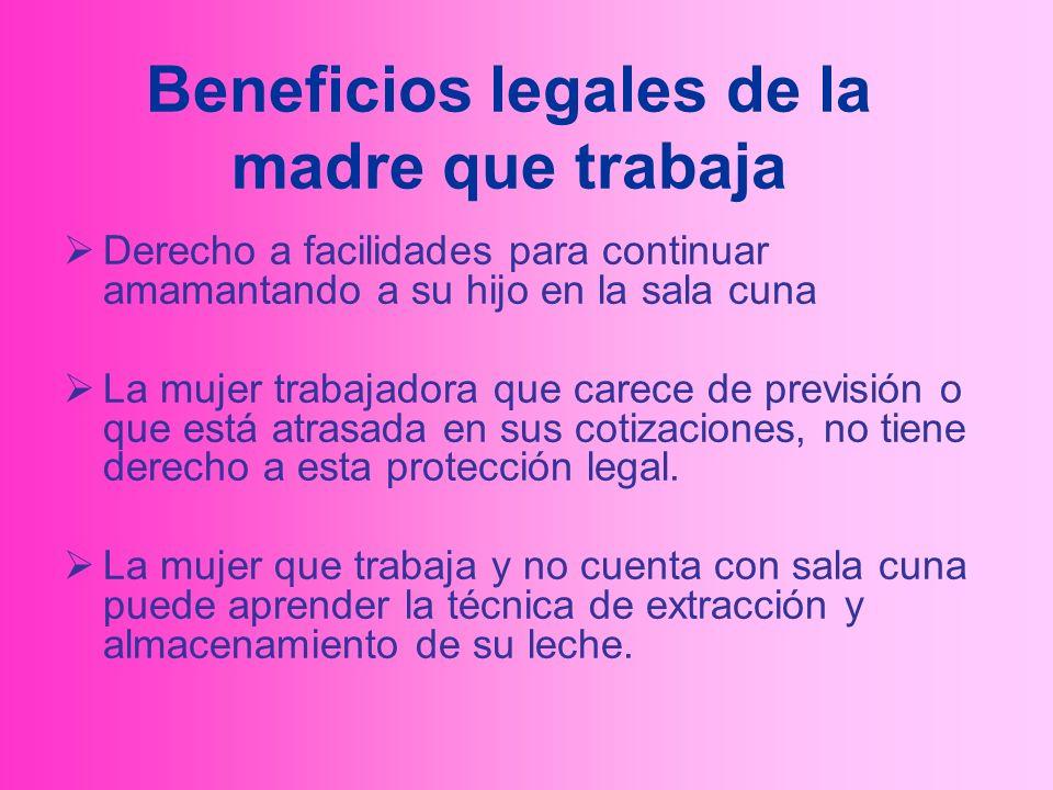 Beneficios legales de la madre que trabaja