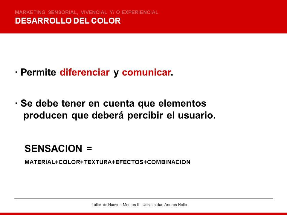 · Permite diferenciar y comunicar.