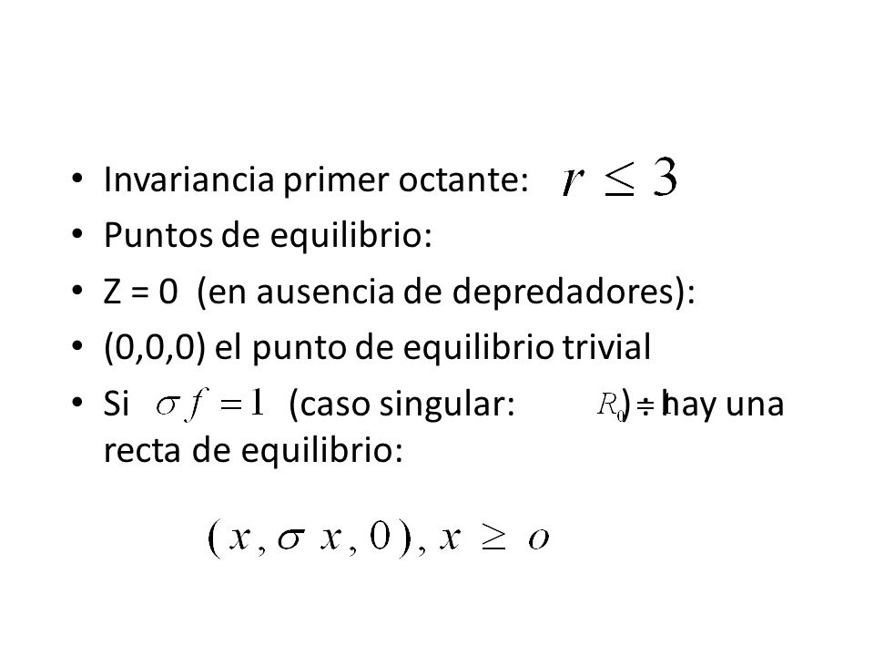 Invariancia primer octante: