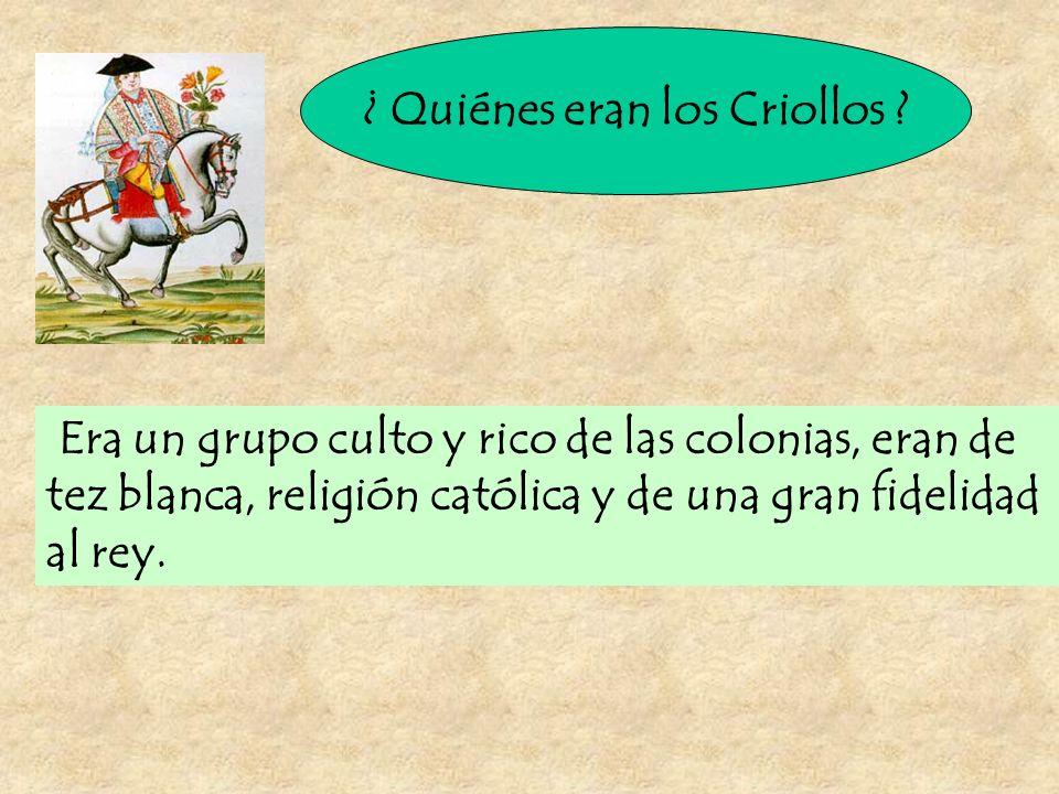 ¿ Quiénes eran los Criollos