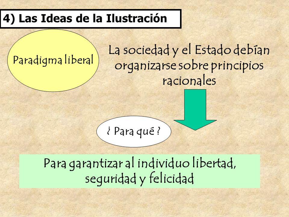 La sociedad y el Estado debían organizarse sobre principios racionales