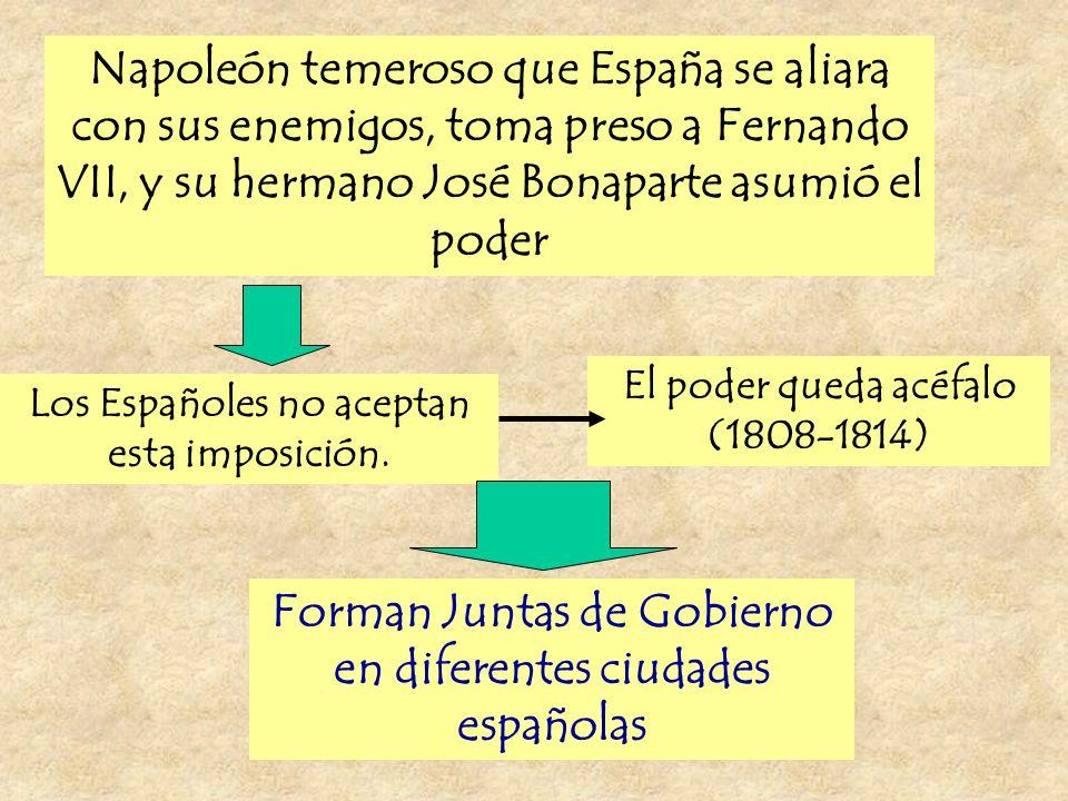 Forman Juntas de Gobierno en diferentes ciudades españolas