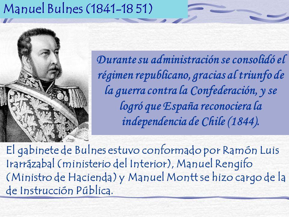 Manuel Bulnes (1841-18 51)