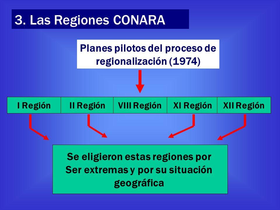 Se eligieron estas regiones por Ser extremas y por su situación
