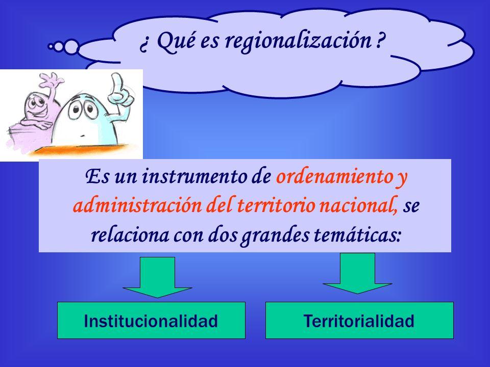 ¿ Qué es regionalización