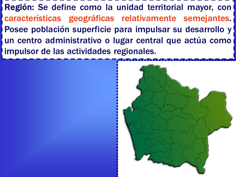 Regionalizaci n ppt descargar - Definition de superficie ...