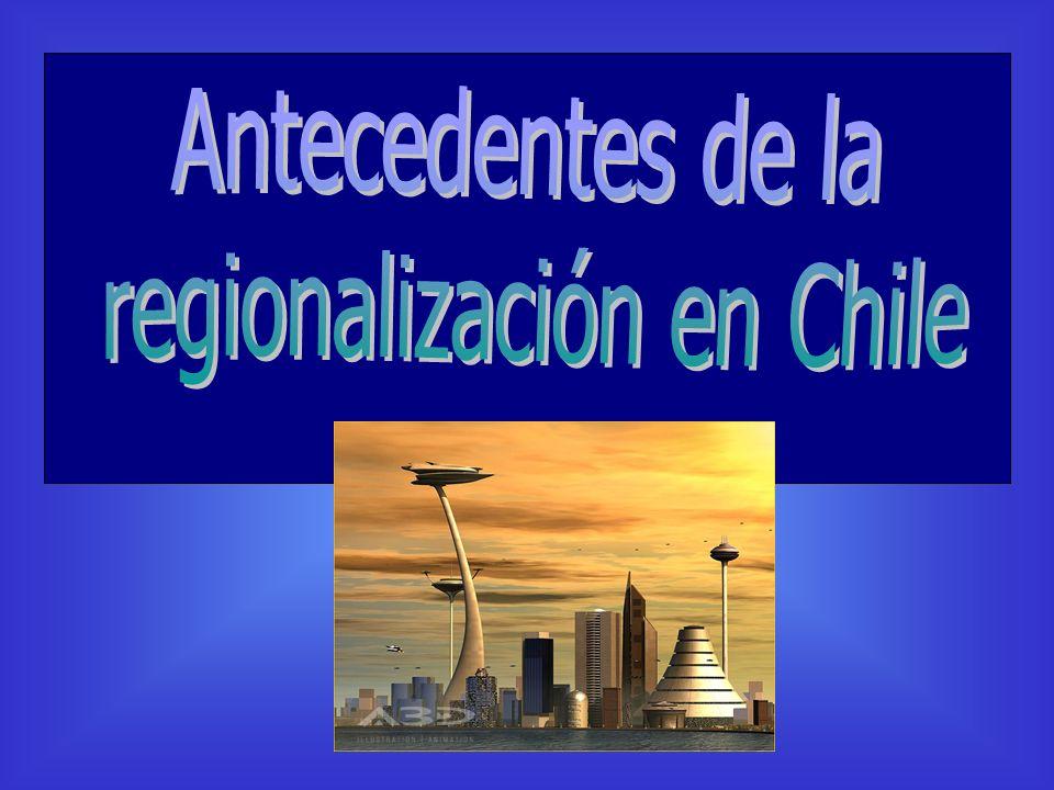 regionalización en Chile