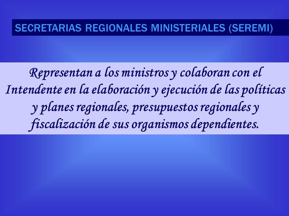 SECRETARIAS REGIONALES MINISTERIALES (SEREMI)