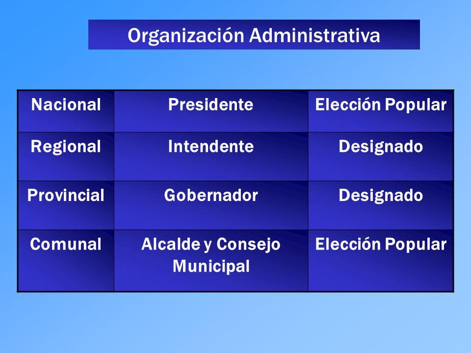 Alcalde y Consejo Municipal