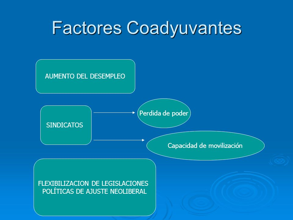 Factores Coadyuvantes