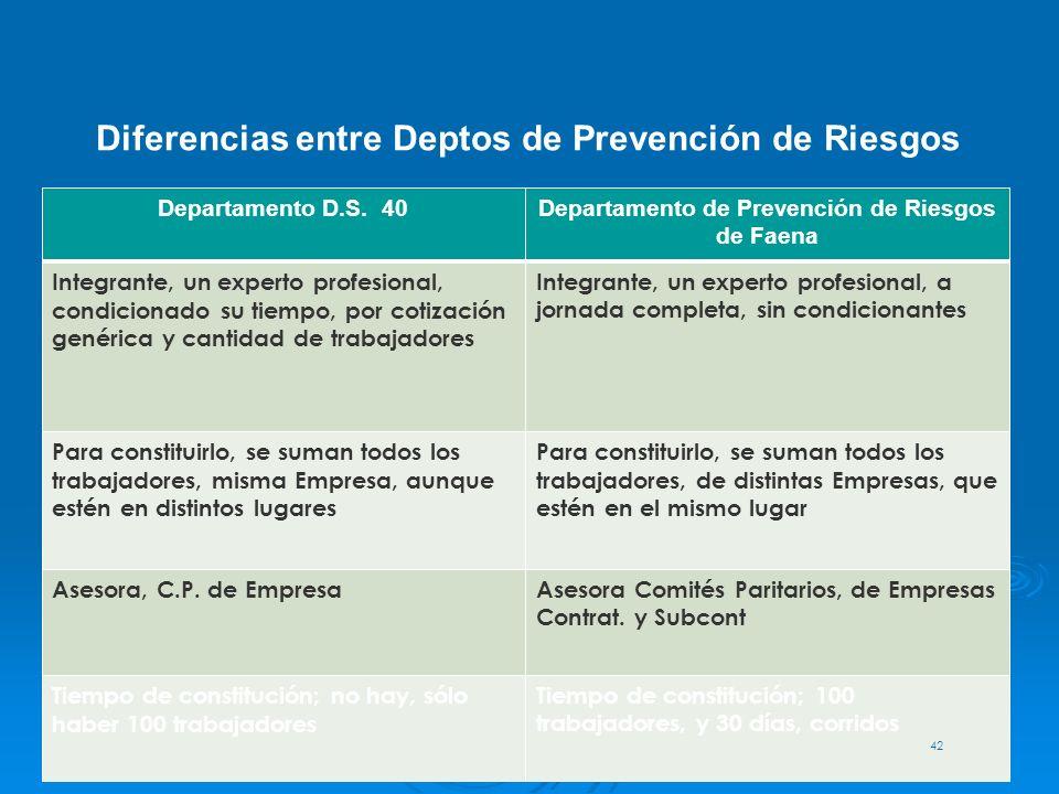 Departamento de Prevención de Riesgos de Faena