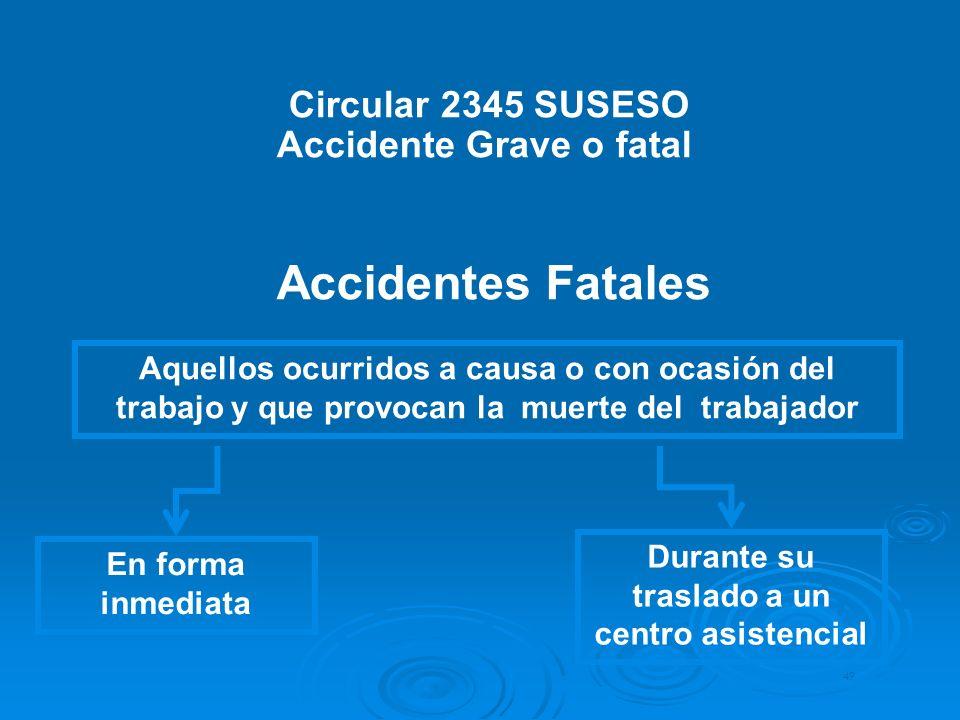 Accidente Grave o fatal Durante su traslado a un centro asistencial