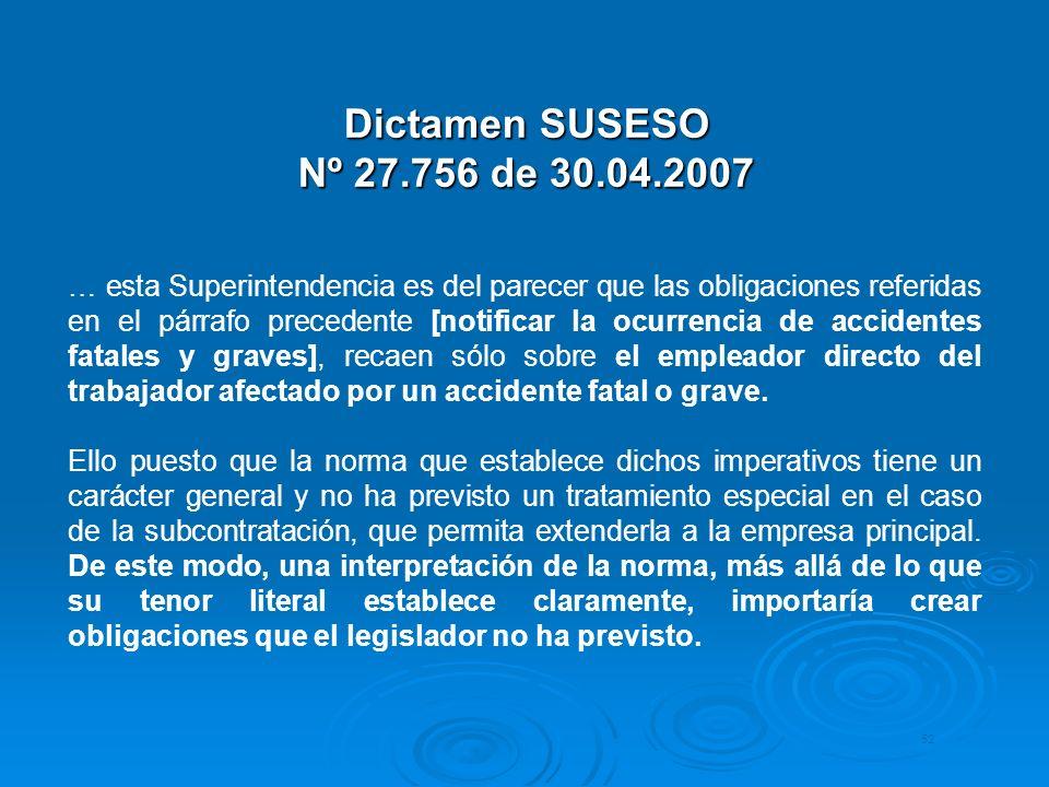 Dictamen SUSESO Nº 27.756 de 30.04.2007