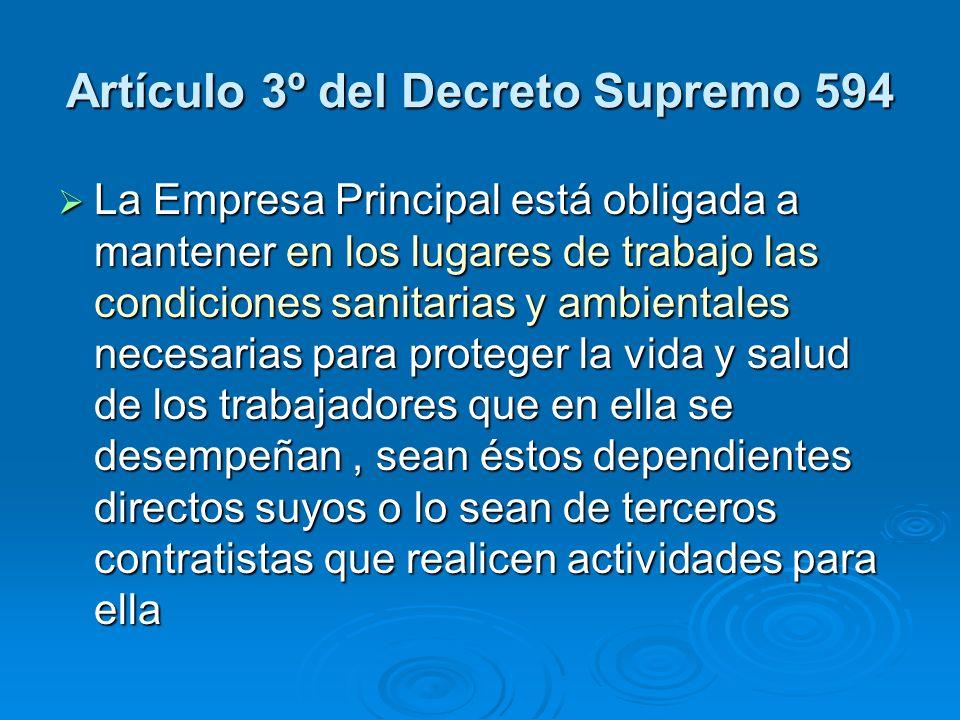 Artículo 3º del Decreto Supremo 594