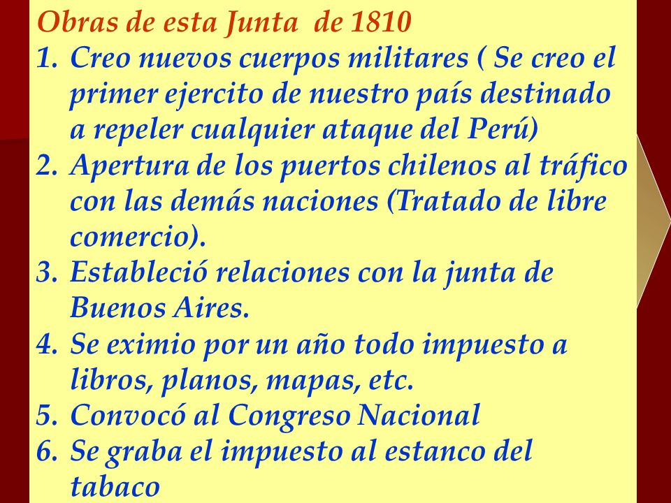 Obras de esta Junta de 1810