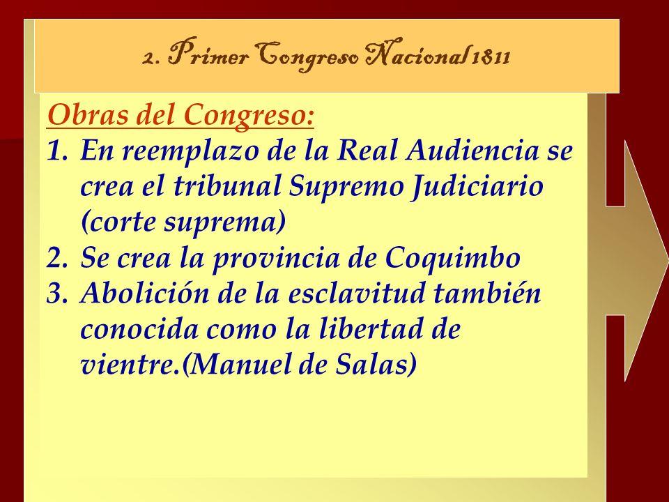 2. Primer Congreso Nacional 1811