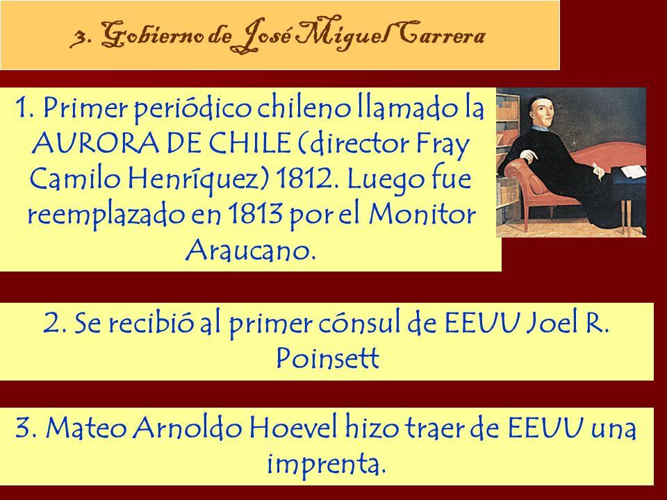 3. Gobierno de José Miguel Carrera