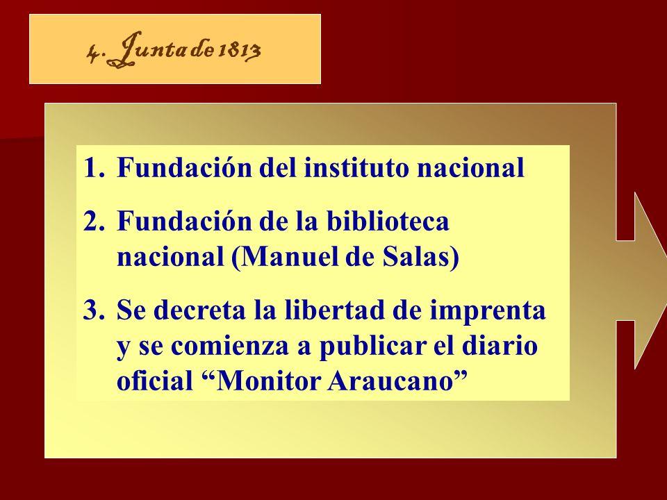 4. Junta de 1813 Fundación del instituto nacional