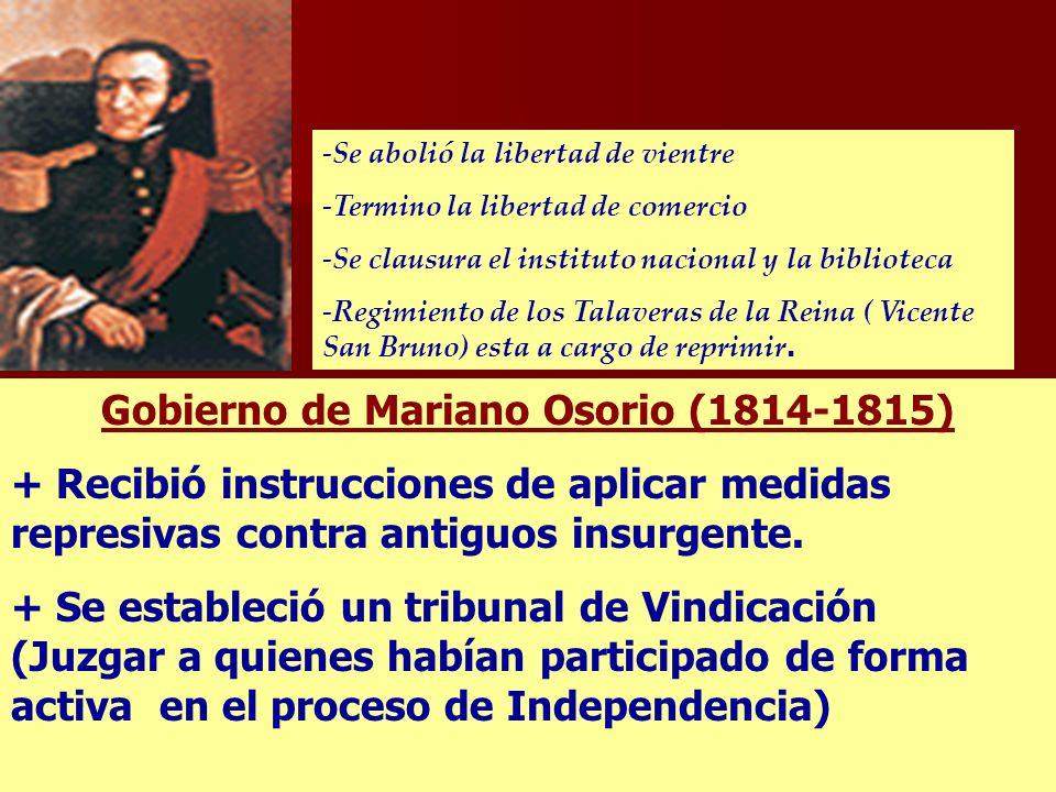 Gobierno de Mariano Osorio (1814-1815)