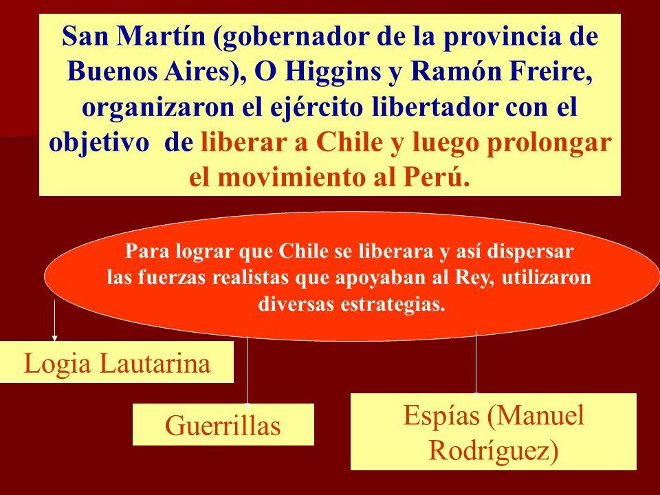 Espías (Manuel Rodríguez) Guerrillas