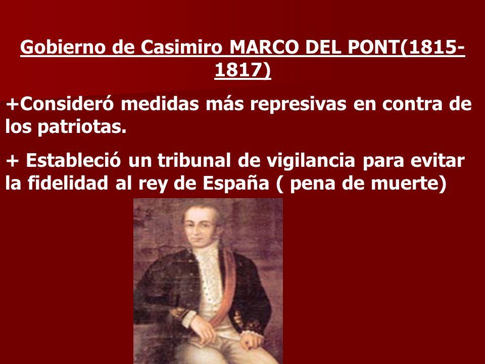 Gobierno de Casimiro MARCO DEL PONT(1815-1817)