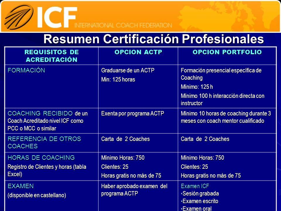 Resumen Certificación Profesionales