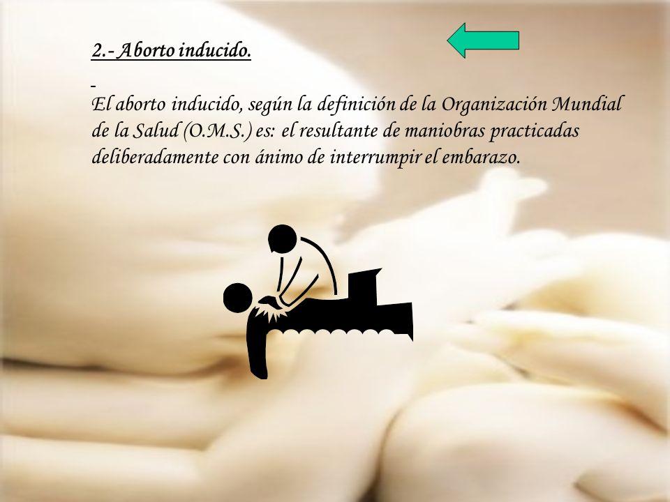 2.- Aborto inducido.