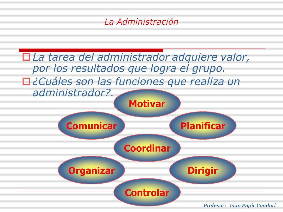 ¿Cuáles son las funciones que realiza un administrador .
