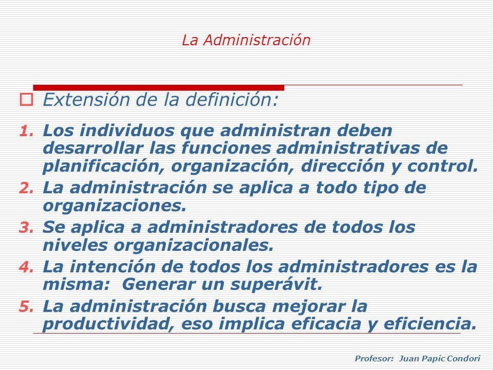 Extensión de la definición: