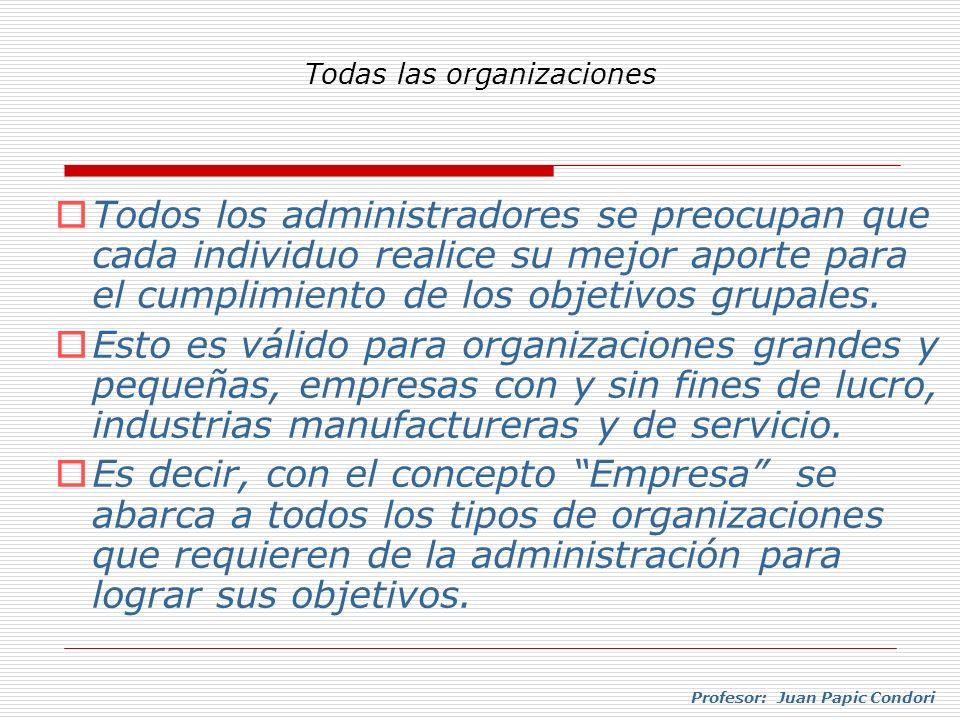 Todas las organizaciones