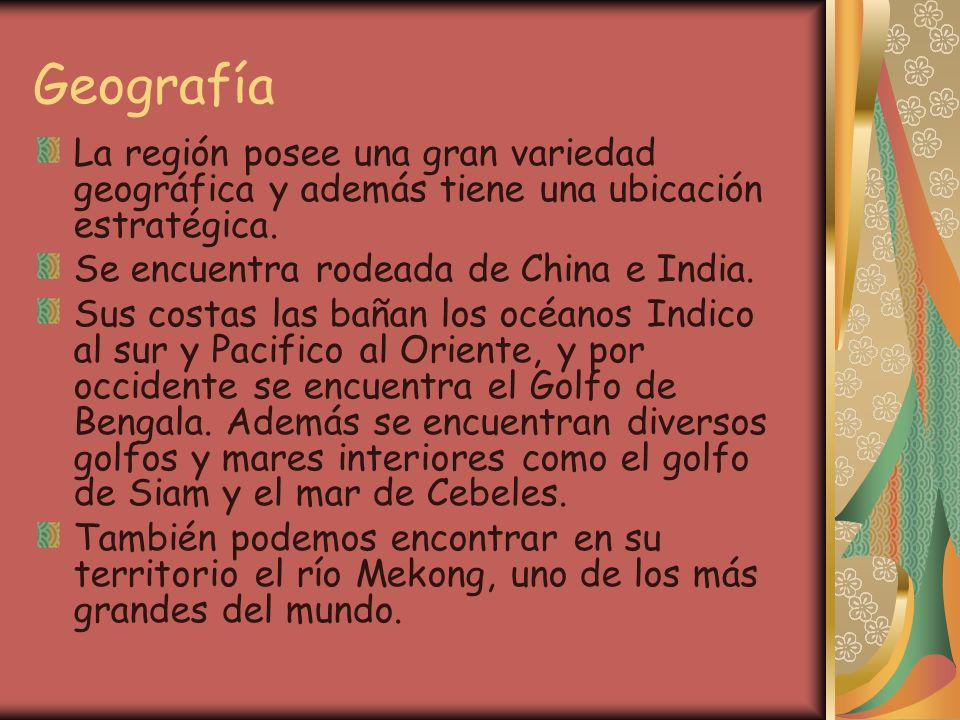 GeografíaLa región posee una gran variedad geográfica y además tiene una ubicación estratégica. Se encuentra rodeada de China e India.