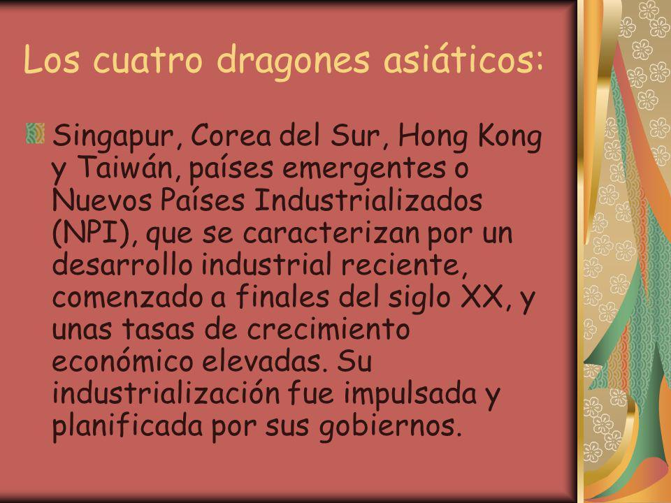 Los cuatro dragones asiáticos:
