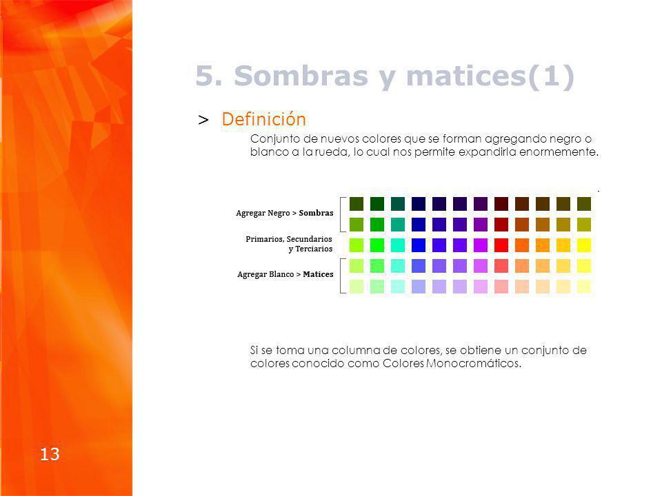 5. Sombras y matices(1) Definición 13