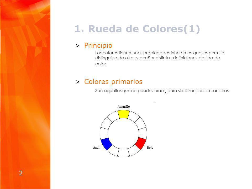 1. Rueda de Colores(1) Principio Colores primarios 2