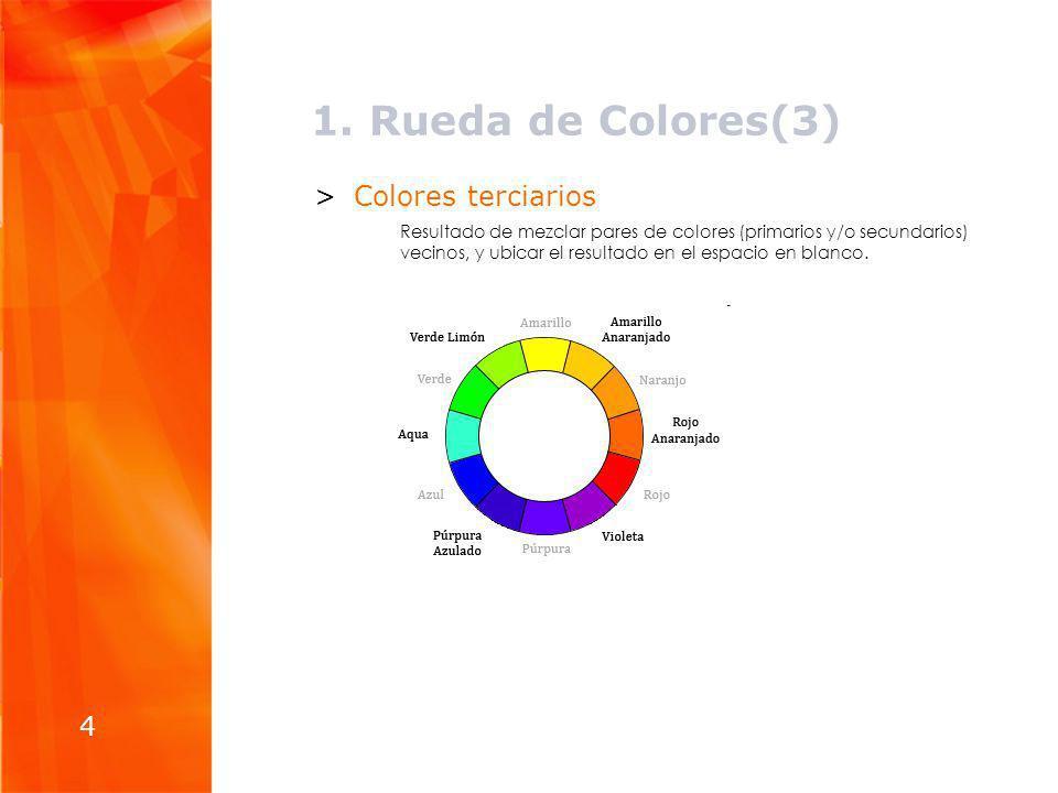 1. Rueda de Colores(3) Colores terciarios 4