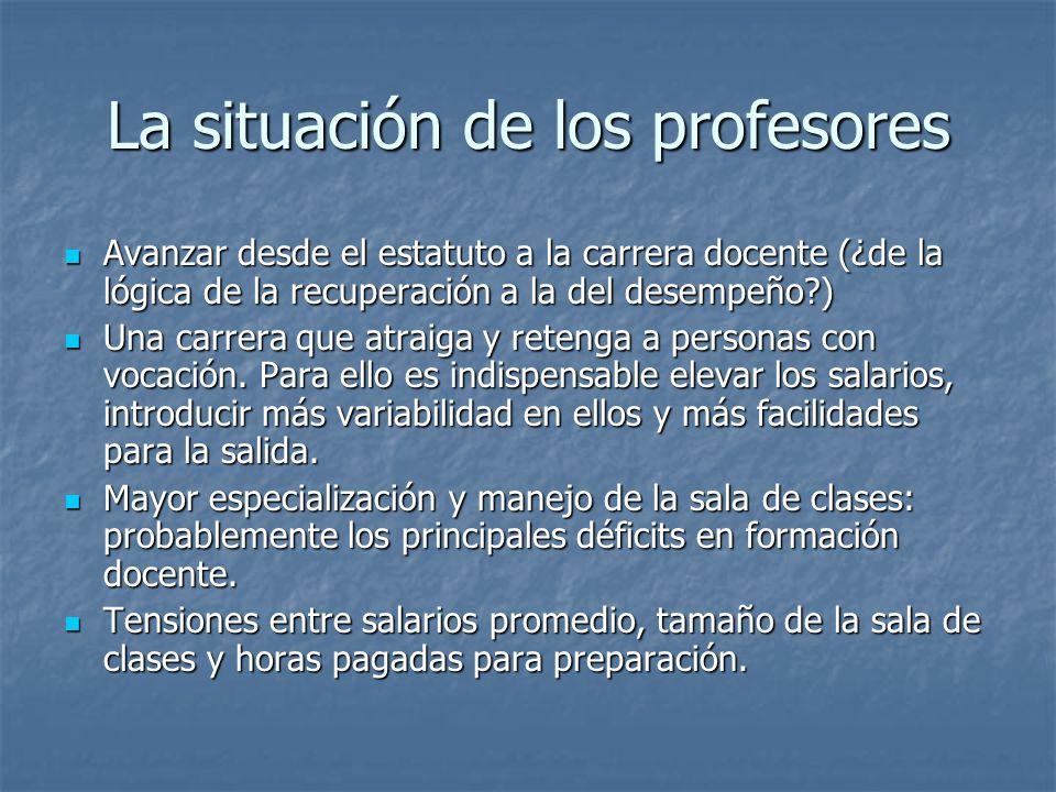 La situación de los profesores