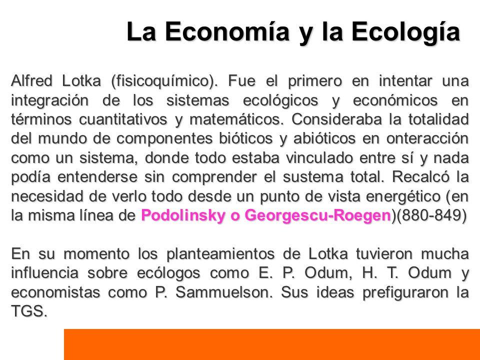 La Economía y la Ecología