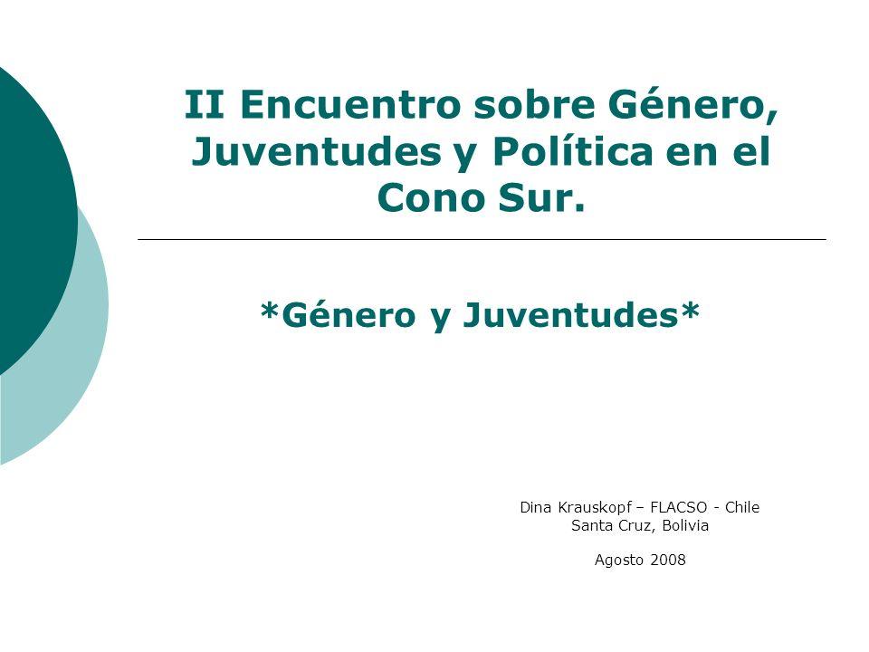 II Encuentro sobre Género, Juventudes y Política en el Cono Sur.