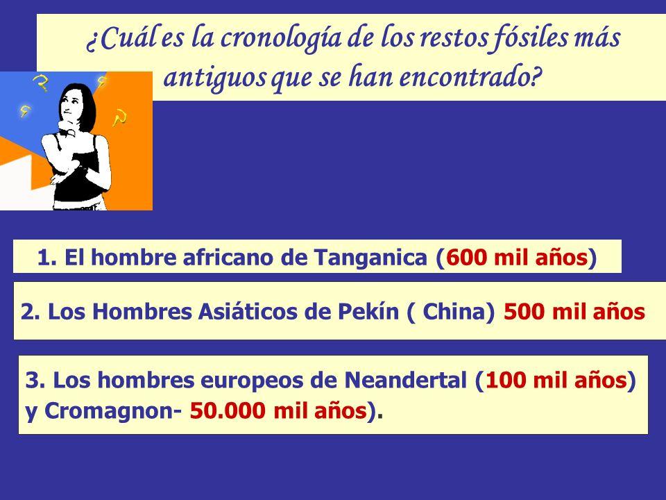 1. El hombre africano de Tanganica (600 mil años)