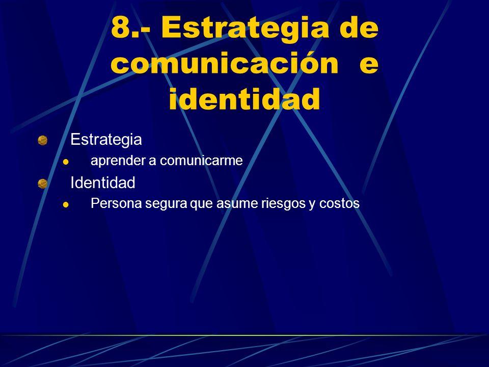 8.- Estrategia de comunicación e identidad