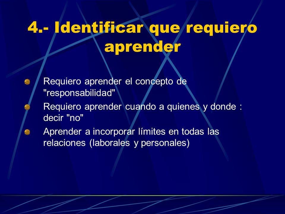 4.- Identificar que requiero aprender