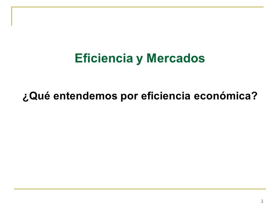 ¿Qué entendemos por eficiencia económica